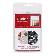 Slimline System Push button hooks