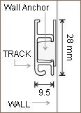 Slimline System track profile