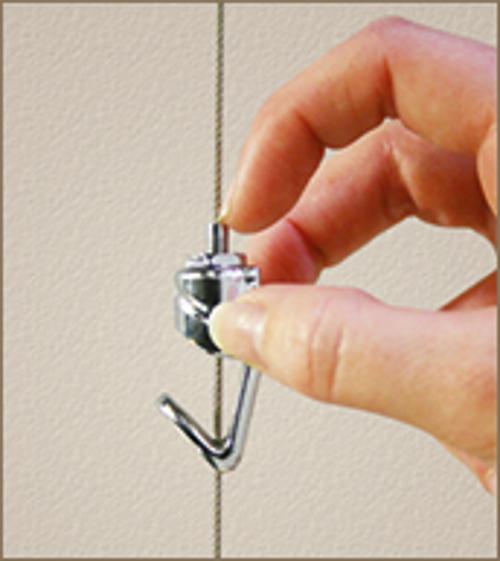 Slimline System Push Button Hook